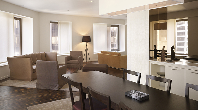 PropertyImage AndazWallStreet 8 Hotel GuestroomSuite LargeSuite DiningRoom CreditHyattCorporation