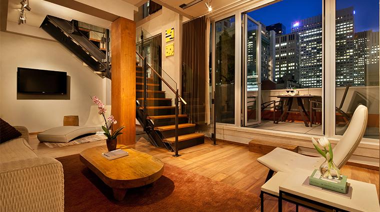 PropertyImage ChambersHotel 8 Hotel GuestroomSuite DuplexSuite 1srFloorLivingRoom CreditChambersHotel