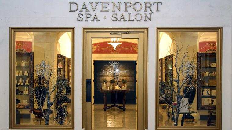 PropertyImage DavenportSpaandSalon Spa Style SpaEntrance CreditDavenportHotelCollection