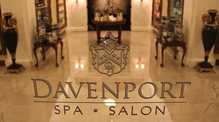 PropertyImage DavenportSpaandSalon Spa Style SpaSignage CreditDavenportHotelCollection