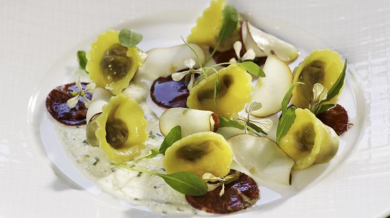 PropertyImage Element47 Restaurant Food WildMushroomTortelliniwithWagyubresaolaandpears CreditTheLittleNell
