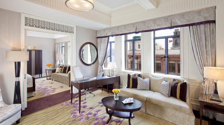 PropertyImage FairmontPeaceHotel Shanghai Hotel Guestrooms OneBedroomSuite 2 CreditFairmontPeaceHotelVFMLeonardoInc