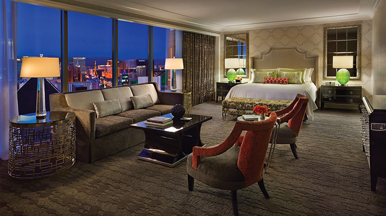 PropertyImage FourSeasonsLasVegas Hotel GuestroomsandSuites Strip ViewSuite CreditFourSeasons