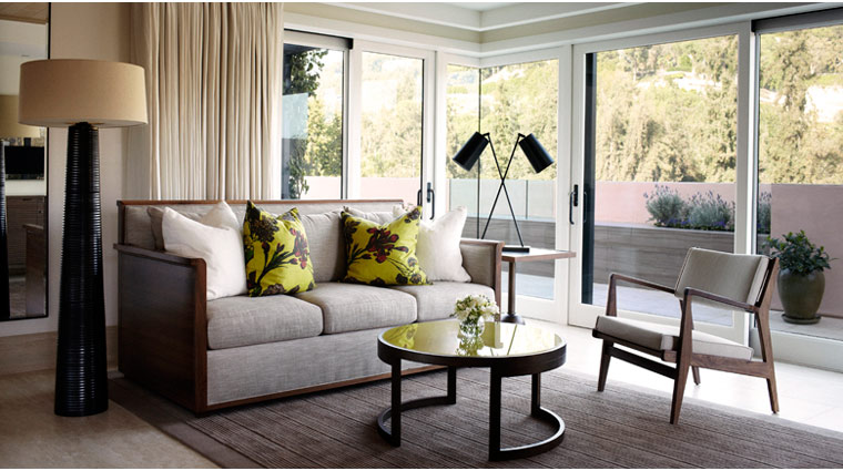 PropertyImage HotelBel Air LosAngeles Hotel GuestroomSuite CanyonViewRoom LivingRoom CreditDorchesterCollection