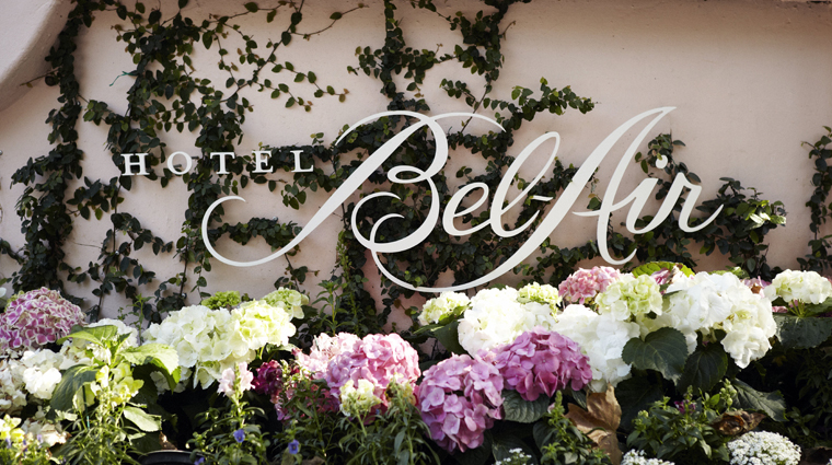 PropertyImage HotelBelAir LosAngeles Hotel Exterior Signage CreditDorchesterCollection