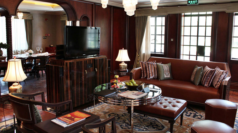 PropertyImage InterContinentalShanghaiExpo Shanghai Hotel GuestroomSuite Villa Lounge CreditInterContinentalHotelsGroup