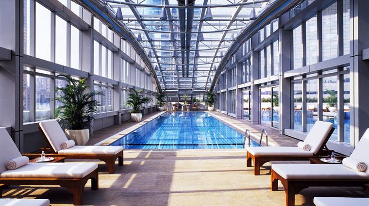 PropertyImage JWMarriottHotelShanghaiatTomorrowSquare Shanghai Hotel Pool IndoorPool CreditMarriottInternationalInc