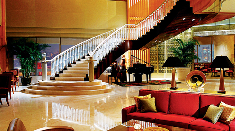 PropertyImage JWMarriottHotelShanghaiatTomorrowSquare Shanghai Hotel PublicSpaces 38thFloorHotelLobby CreditMarriottInternationalInc