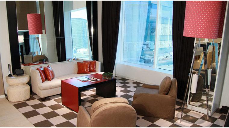 PropertyImage SkyloftsAtMGMGrand LasVegas Hotel GuestroomSte SkyLoft LivingRoom 1 CreditFiveStarTravelCorp