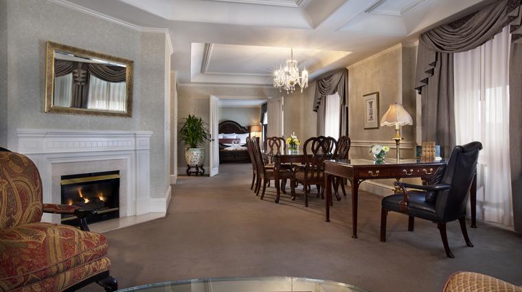 PropertyImage TheBensonHotel Hotel GuestroomsSuites PresidentialSuite LivingRoom CreditCoastHotelsAndResorts