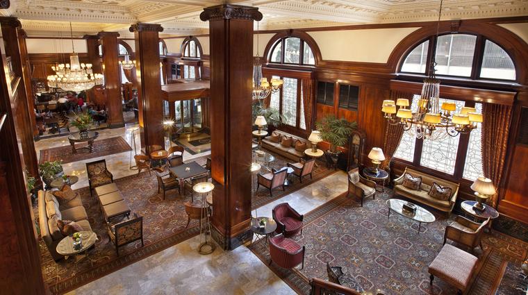 PropertyImage TheBensonHotel Hotel PublicSpaces Lobby PalmCourt CreditCoastHotelsAndResorts