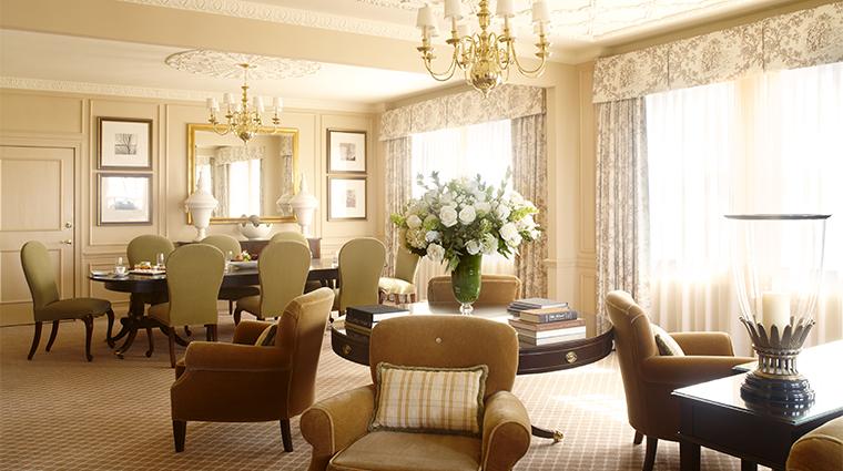 PropertyImage TheHayAdams Hotel GuestroomSuite SuiteDiningRoom CreditTheHayAdams