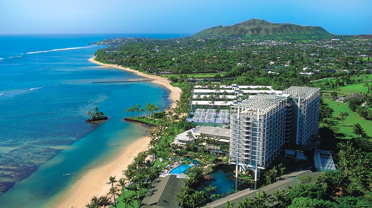 PropertyImage TheKahalaHotelAndResort Hawaii Hotel Exterior ArialView CreditLandmarkHotelsGroup
