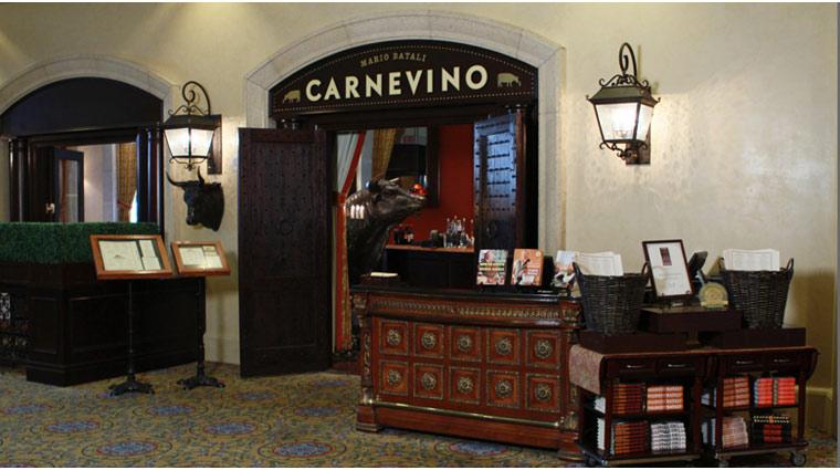 PropertyImage ThePalazzo LasVegas Restaurant Carnevino Style Entrance 1 CreditTheFiveStarTravelCorporation