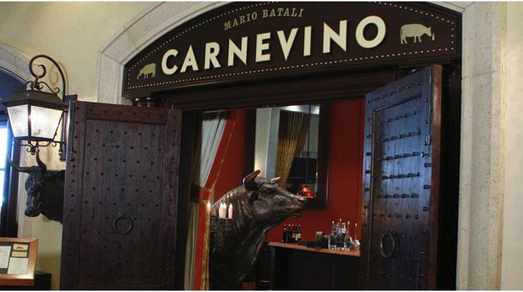 PropertyImage ThePalazzo LasVegas Restaurant Carnevino Style Entrance 2 CreditTheFiveStarTravelCorporation