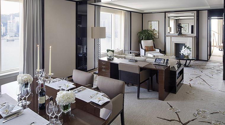 PropertyImage ThePeninsulaHongKong Hotel GuestroomSuite GrandDeluxeHarborViewSuite DiningRoomandLivingRoom CreditThePeninsulaHongKong VFMLeonardoInc