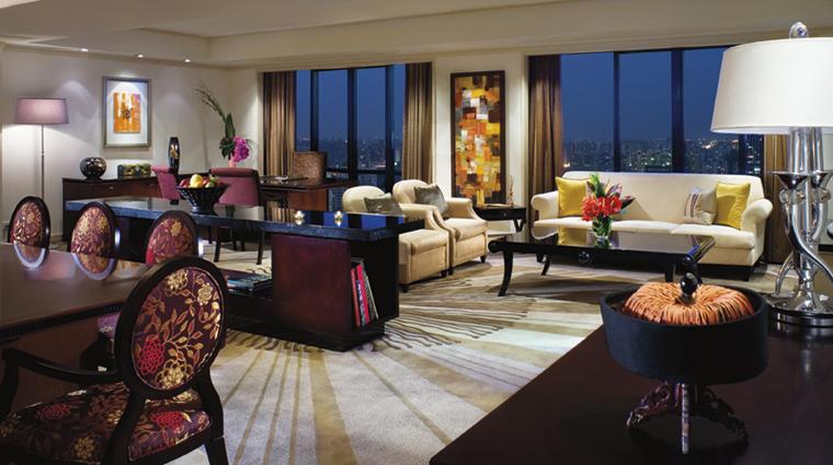 PropertyImage ThePortmanRitzCarltonShanghai Shanghai Hotel Guestrooms TheGreenbergSuite LivingArea CreditTheRitzCarltonHotelCompanyLLC