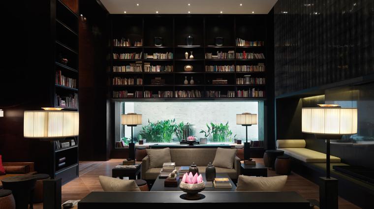 PropertyImage ThePuliHotelandSpa Shanghai Hotel PublicSpaces Library CreditThePuliHotelandSpa