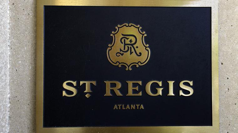 PropertyImage TheStRegisAtlanta Atlanta Hotel Exterior Signage CreditTheFiveStarTravelCorporation