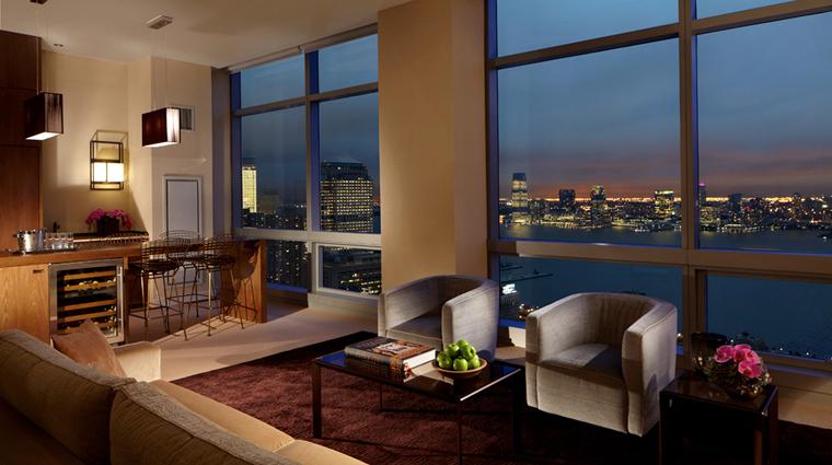 PropertyImage TrumpSoHo NewYork Hotel GuesroomSte PenthouseSuite LvgRoom Night CreditTrumpSoHoHotel