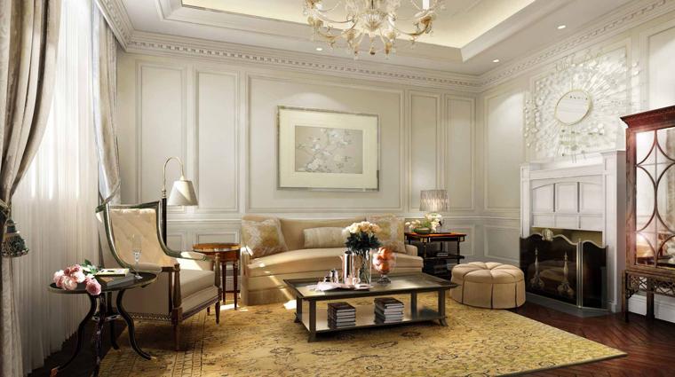 PropertyImage WaldorfAstoriaShanghaiOnTheBund Shanghai Hotel GuestroomSuites WaldorfDeluxeRiverSuite LivingRoom CreditHiltonWorldwide