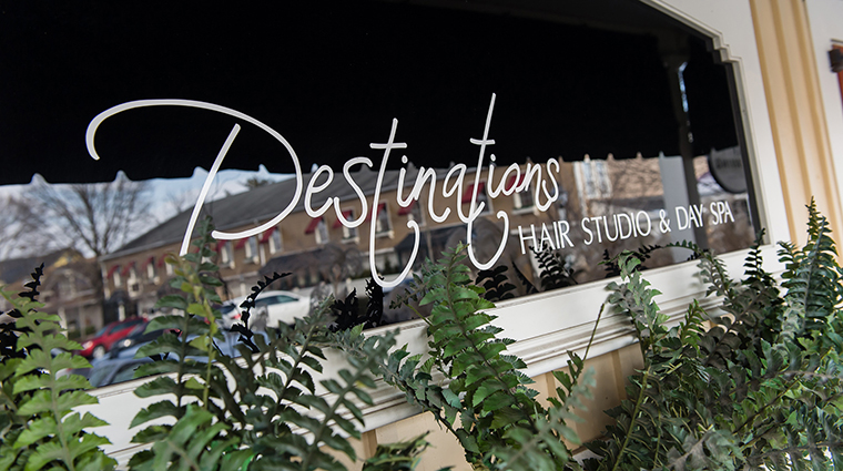 Property DestinationsHairStudioDaySpa Spa PublicSpaces DestinationsWindowSign CreditDestinationsHairStudioDaySpa