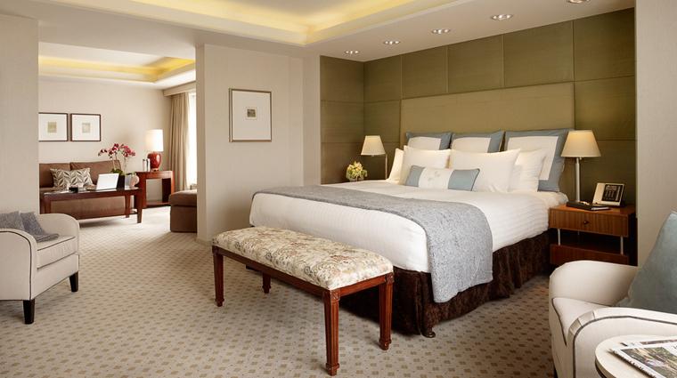 Property HotelNikkoSanFrancisco Hotel GuestroomSuite ImperialSuite Bedroom Credit HotelNikkoSanFrancisco