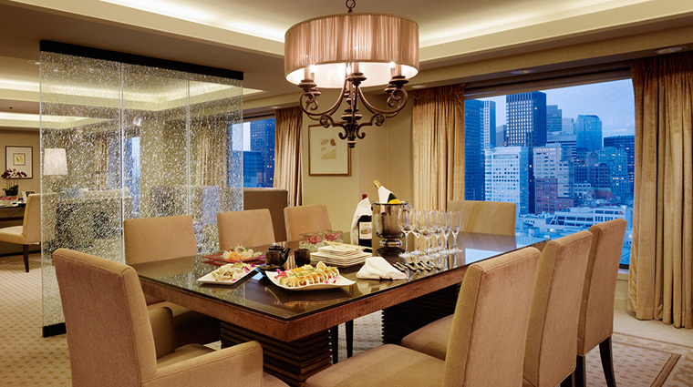 Property HotelNikkoSanFrancisco Hotel GuestroomSuite ImperialSuite DiningRoom Credit HotelNikkoSanFrancisco