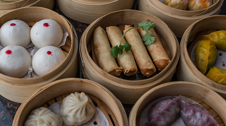 Property Restaurant Shanghai Terrace Dim Sum Spring Roll CreditThe Peninsula Hotels