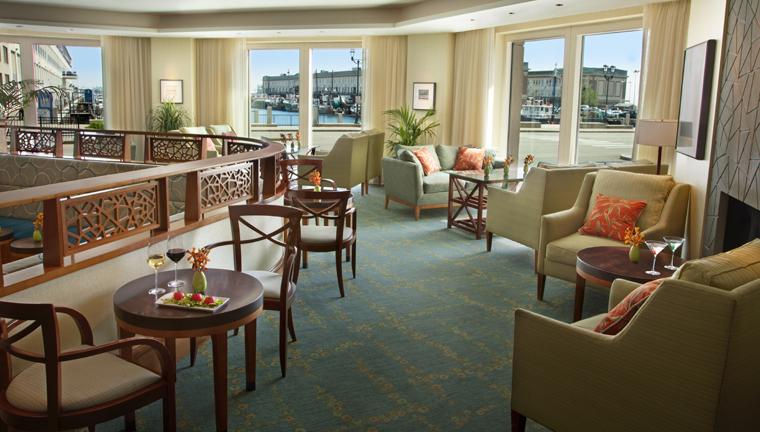 Property SeaportHotelandWorldTradeCenter Hotel BarLounge TAMOBarandTerrace CreditSeaportHotelandSeaportWorldTradeCenter