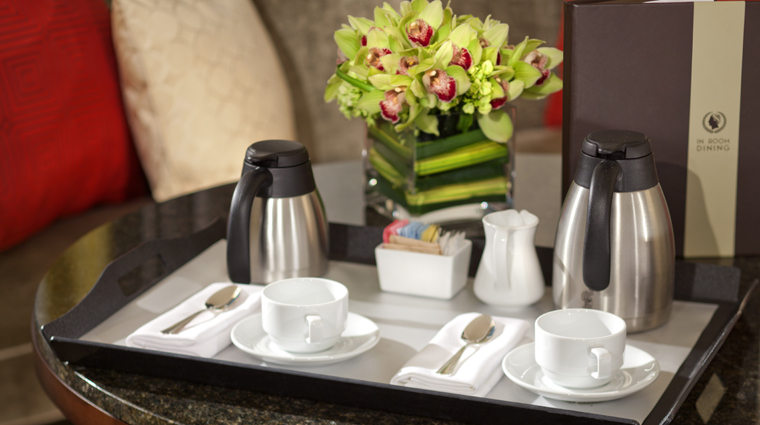 Property TheLaurelCollectionbyCaesarsPalace 4 Hotel GuestroomsSuites RoomService Coffee CreditCaesarsLicenseCompanyLLC