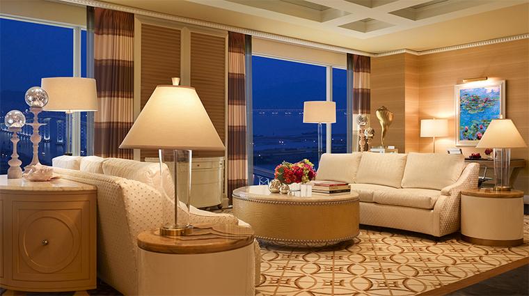 Propery WynnMacauWynn Hotel 1 GuestroomSuite OneBedroomSuite LivingRoom CreditBarbaraKraft