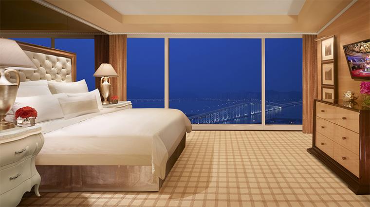 Propery WynnMacauWynn Hotel 2 GuestroomSuite OneBedroomSuite Bedroom CreditBarbaraKraft