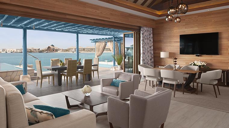Proprety BananaIslandResortDohabyAnantara Hotel GuestroomSuite TwoBedroomOverwaterVillaLivingRoom AnantaraHotelsResorts&Spas
