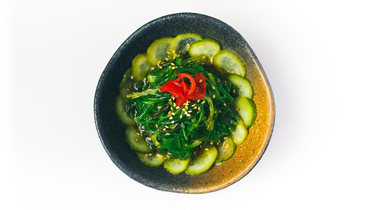 SLS South Beach Katsuya Restaurant seaweed sunomono