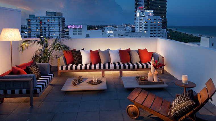 SLS South Beach Tower Penthouse Balcony