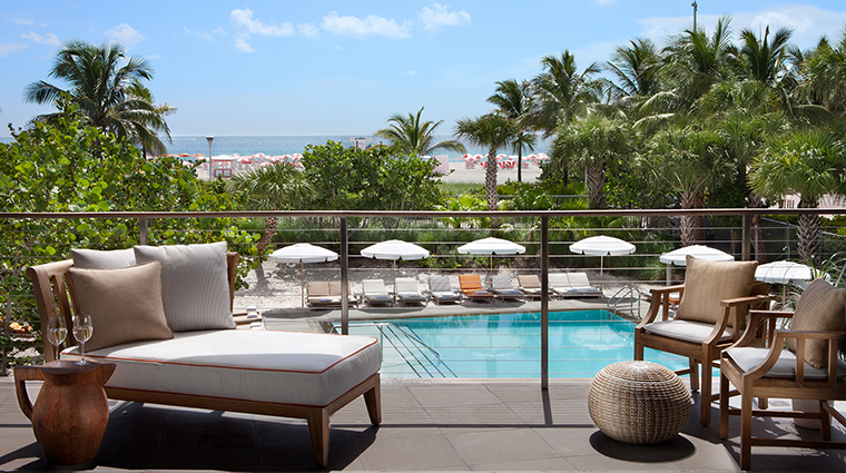 SLS South Beach Villa Penthouse Balcony
