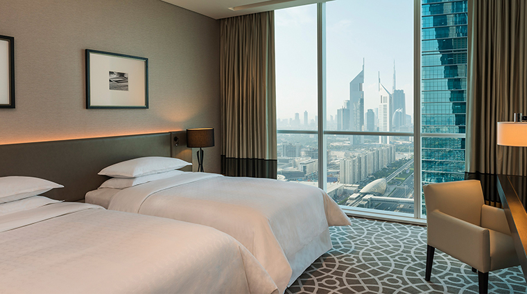 Sheraton Grand Hotel Dubai deluxe room twin