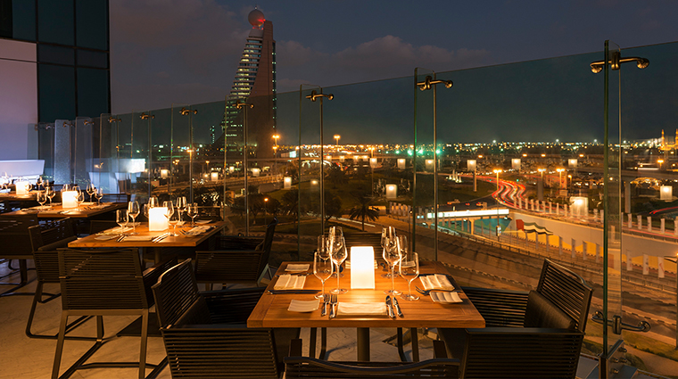 Sheraton Grand Hotel Dubai feast terrace