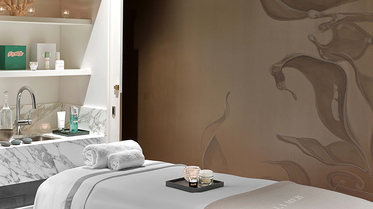 Spa la mer at baccarat new york treatment room wide