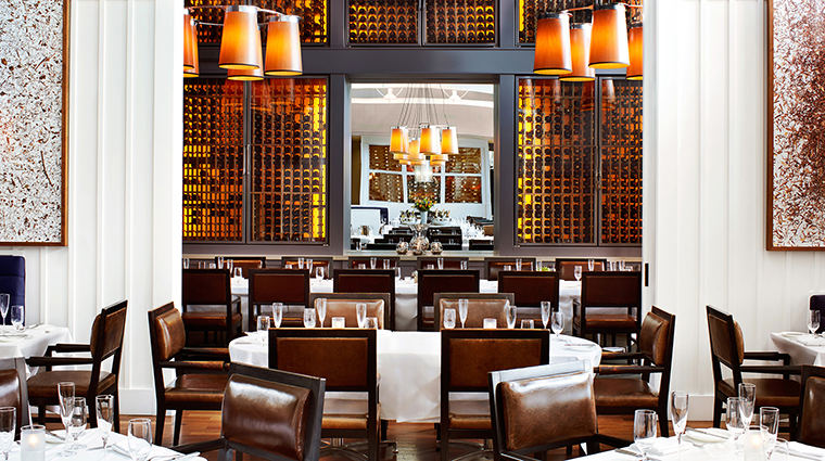 The Carneros Inn Farm Restaurant interior wine wall