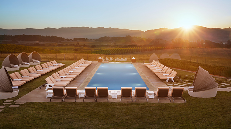 The Carneros Inn main pool sunrise