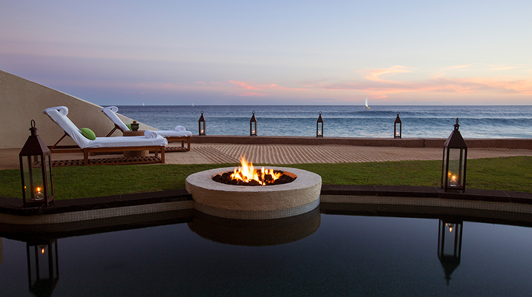 The Resort At Pedregal dusk firepit