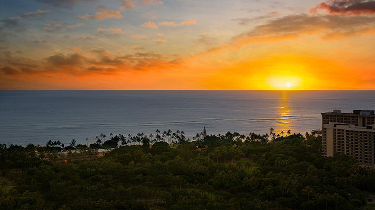 The Ritz Carlton Waikiki sunset