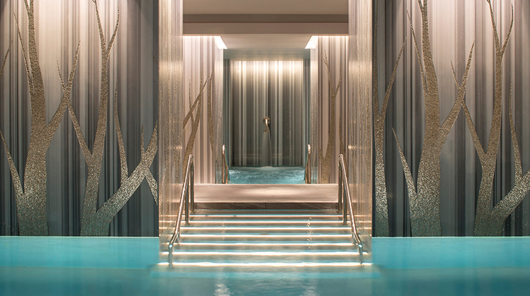 The Spa at Four Seasons Ten Trinity Square Swimming Pool closeup