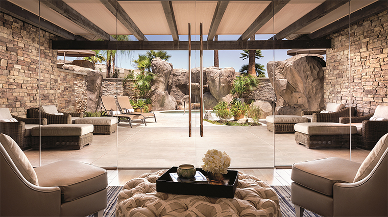 The spa at the ritz carlton rancho mirage coed area