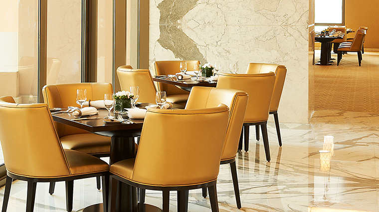 The st regis doha remede Vine restaurant seats