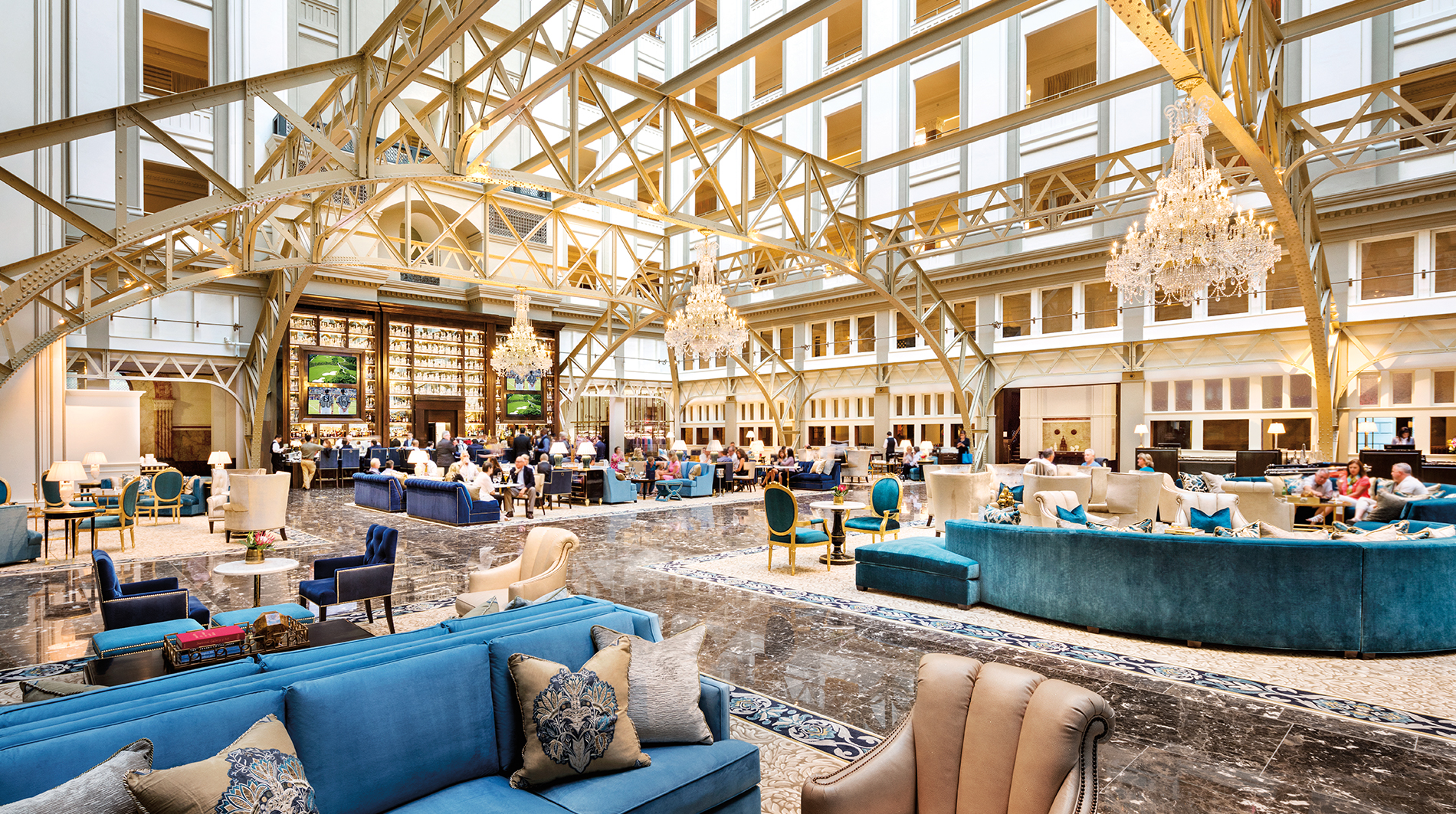 Trump international hotel washington dc Benjamin grand lobby