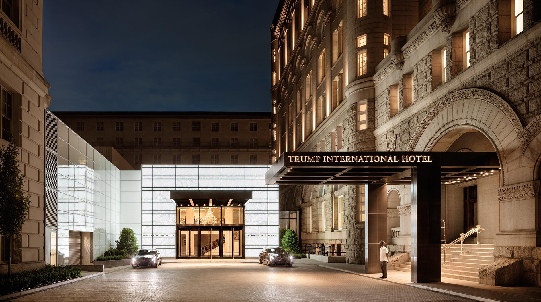 Trump international hotel washington dc Benjamin main entrance