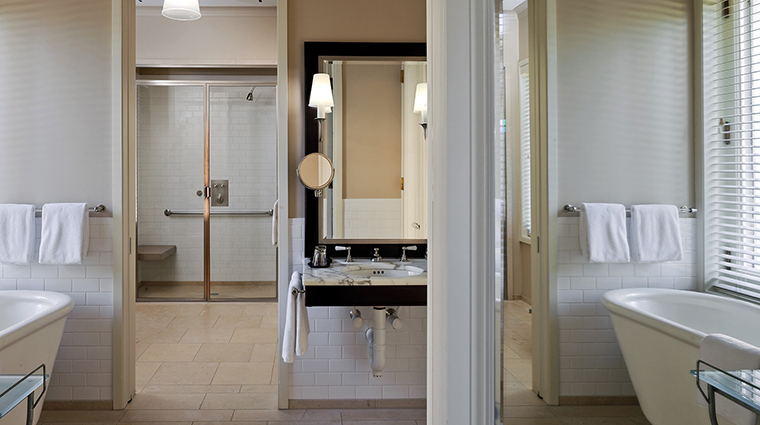 WheatleighHotel Hotel GuestRoom Bathroom Handicapped Deluxe Room CreditWheatleighHotel